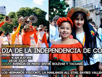 Colombian Day in Buenos Aires