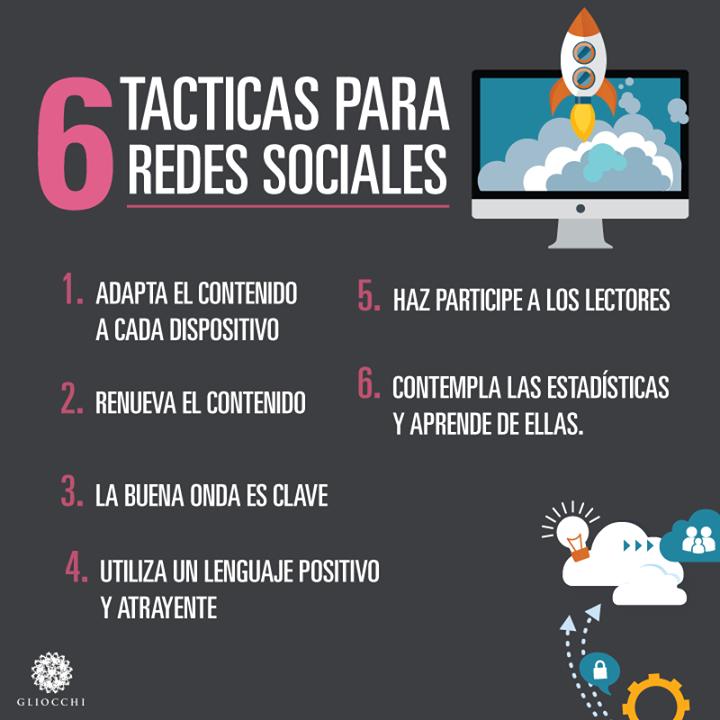 6 tácticas para redes sociales